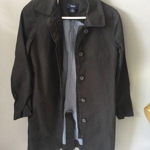 Unisex Super vintage GAP black trench coat